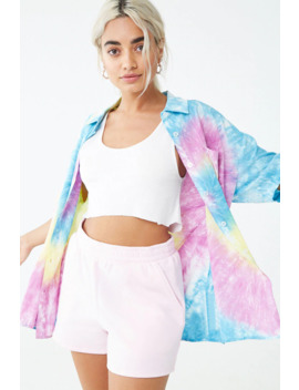 Tie Dye Pocket Shirt by Forever 21