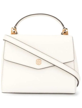Robinson Small Saffiano Top Handle Bag by Tory Burch