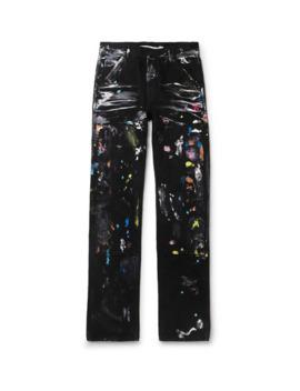 Paint Splattered Denim Jeans by Off White