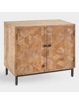 Reclaimed Pine And Metal Anders Storage Cabinet by World Market