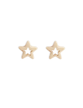 Cutout Star Charm Stud Earrings by Forever 21