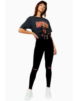Black Rip Beltloop Joni Jeans by Topshop