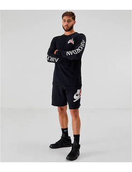 Men's Jordan Mashup Classics Long Sleeve T Shirt by Nike