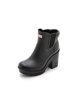 Original Block Heel Chelsea Boots by Hunter Boots