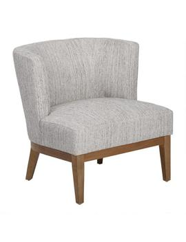 Gray Tweed Curved Back Jaden Chair by World Market