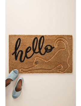 Stretching Cat Doormat by Anthropologie