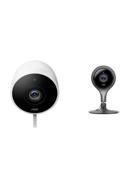 Nest 2 Outdoor And 1 Indoor Camera Bundle, Works With Alexa by Nestc