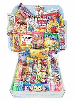 Sakura Box   Dagashi Set   Large 50 Pieces Japanese Candy Chocolate Snacks (Large) by Sakura Box