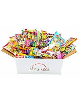 Japanese Candy Box Assortment 40 Snacks & Candy, Gum, Gummies, Ramune Christmas Present by Japan2oz