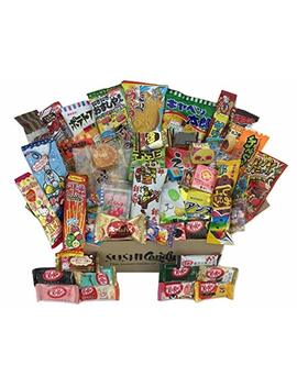 50 Japanese Candy & Snack Popin Cookin Box Set, Big Japanese Kitkat Assortment (10 Pieces) And Other Popular Sweets by Sushi Candy