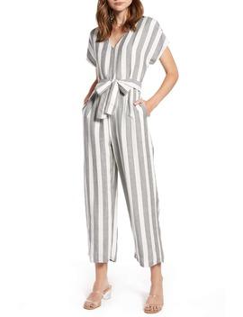 Angela Stripe Short Sleeve Jumpsuit by Rails