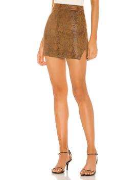 Stella Slit Mini Skirt by Superdown
