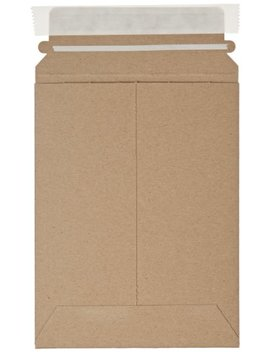 """Aviditi Rm1 K Self Seal Flat Mailer, 8"""" Length X 6"""" Width, Kraft (Case Of 100) by Aviditi"""