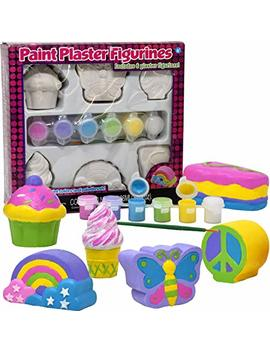 Decorate Your Own Figurines, Paint Your Own Kids Set   Includes Six Figurines, Paint Brush, Six Pots Of Paint by Number 1 In Gadgets