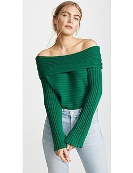 Benigna Off Shoulder Sweater by Line &Amp; Dot