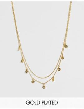 Astrid &Amp;Amp; Miyu Gold Plated Mystic Opal Charm Necklace by Astrid &Amp; Miyu