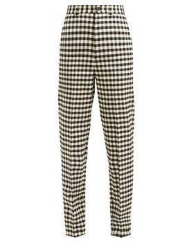 Vichy Gingham Trousers by Balenciaga