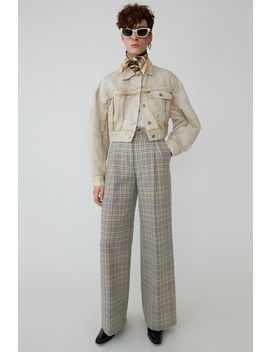Pantalon à Carreaux Gris/Beige by Acne Studios