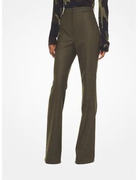 Flannel Flared Trousers by Michael Kors Collection