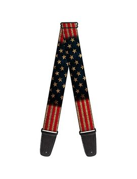 Buckle Down 2 Inches Wide Guitar Strap   Vintage Us Flag Stretch (Gs W32210) by Buckle Down