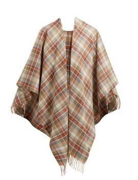 Cassiar Checked Wool Shawl by Acne Studios
