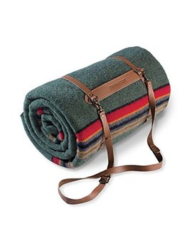Pendleton Twin Camp Blanket With Carrier   Green Heather by Pendleton