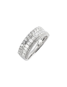 Gatsby Mixed Diamond Wide Band Ring by Bony Levy