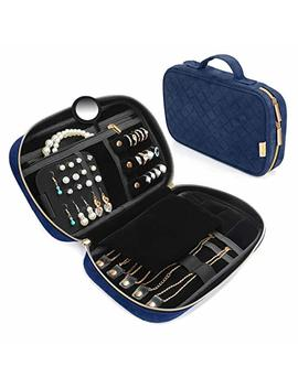 Vemingo Travel Jewelry Organizer Case Jewelry Storage Bag Travel Jewelry Roll For Necklace Earring Ring Bracelet   Blue by Vemingo