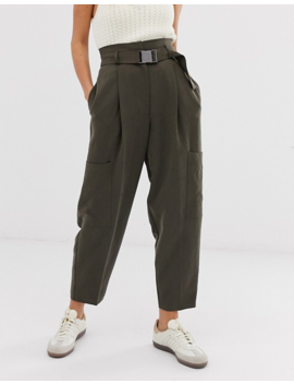 Asos Design Seatbelt Tapered Pants by Asos Design