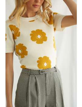 Floral Brushed Knit Top by Forever 21