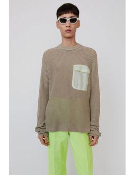 Pocket Sweater Light Grey by Acne Studios