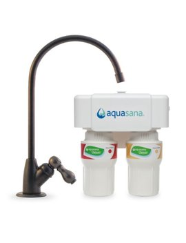 Aquasana 2 Stage Under Sink Water Filter System With Oil Rubbed Bronze Faucet by Aquasana