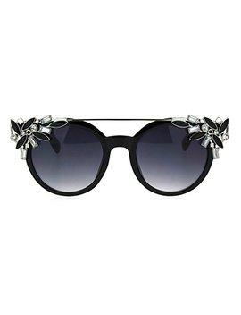 Fancy Rhinestones Fashion Womens Sunglasses Bling Metal Top Uv 400 by Pastl