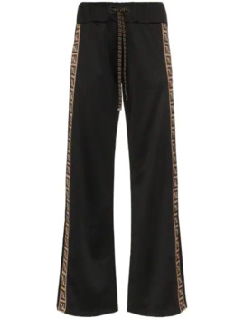 Logo Panel Track Trousers by Fendi