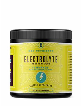 Electrolyte Powder, Lemonade Hydration Supplement: 90 Servings, Carb, Calorie & Sugar Free, Delicious Keto Replenishment Drink Mix. 6 Key Electrolytes   Magnesium,... by Key Nutrients