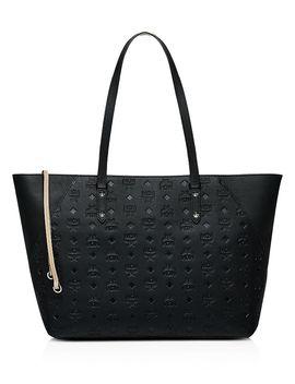 Klara Monogrammed Leather Tote by Mcm