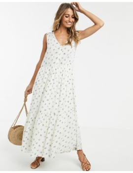 Y.A.S Oversized Maxi Tea Dress In Floral Print by Y.A.S
