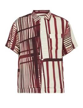 Willy Abstract Print Short Sleeved Shirt by Éditions M.R