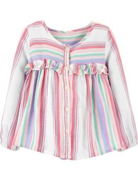 Rainbow Stripe Peasant Top by Oshkosh