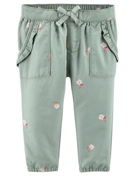 Pull On Floral Pants by Oshkosh