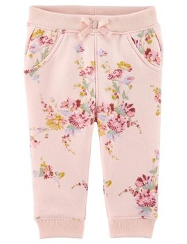 Pull On Floral Fleece Pants by Oshkosh