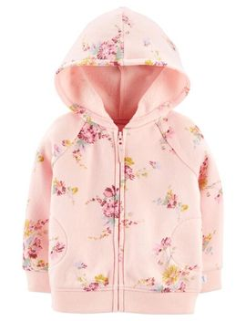 Fleece Floral Hoodie by Oshkosh