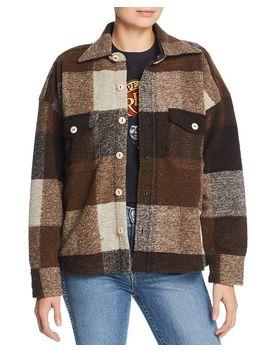 Bobbi Plaid Flannel Jacket by Anine Bing