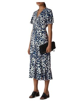 Leopard Printed Midi Dress by Whistles