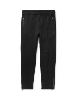 Slim Fit Tapered Logo Appliquéd Jersey Sweatpants by Ami