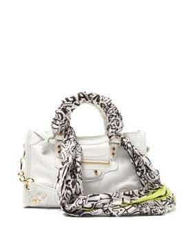 Classic City Nano Scarf Handle Leather Bag by Balenciaga