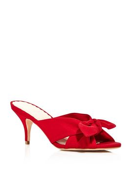 Women's Luisa Knotted Bow Kitten Heel Sandals by Loeffler Randall