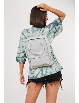 Grey Utility Canvas Backpack by Missguided