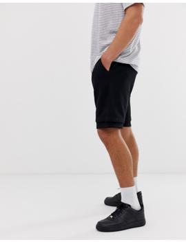 Asos Design Jersey Drop Crotch Shorts In Black by Asos Design