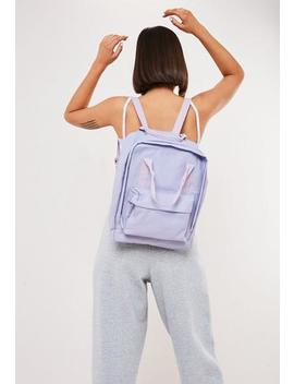 Lilac Utility Canvas Backpack by Missguided